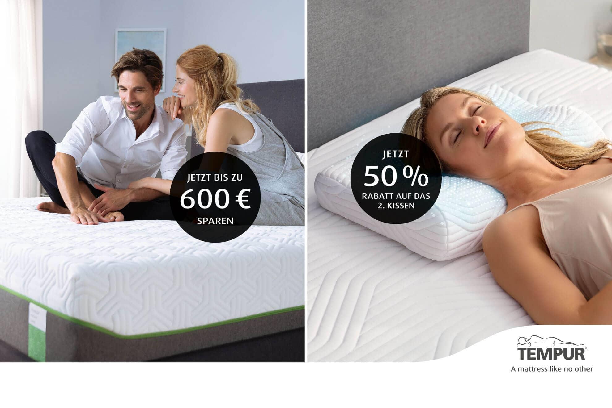 TEMPUR® Matratzen und Kissen-Aktion